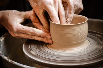 Pottery is still made in Seagrove. Shops and festivals. Aviation Triad.