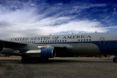 Air Force One as it has evolved over time. Presidential aircraft, Aviation Triad.