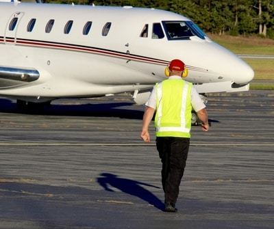 Airport employee with access to tarmac. Aviation Triad. North Carolina.